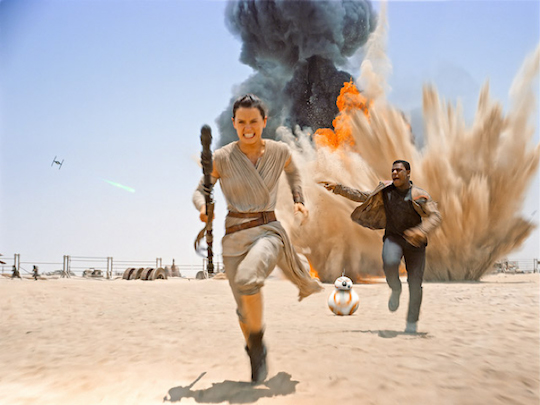 Star Wars characters running